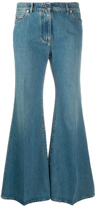 Valentino VLOGO-print flared jeans