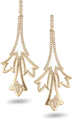 Coomi 20K Sagrada Labyrinth Long Diamond Earrings