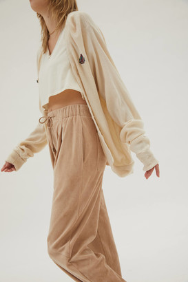 Urban Outfitters Zoe Velour Balloon Jogger Pant
