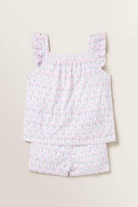 Seed Heritage Flamingo Frill Pyjamas