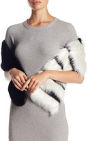 Free Press Stripe Faux Fur Stole