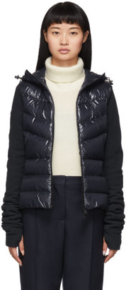 MONCLER GRENOBLE Navy Down Panelled Jacket