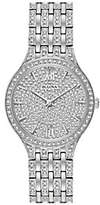 Bulova Women's Stainless Crystal Watch with Rou