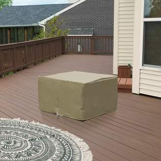 BEIGE TK Classics New Outdoor Protective Wicker Water Resistant Ottoman Cover TK Classics Color