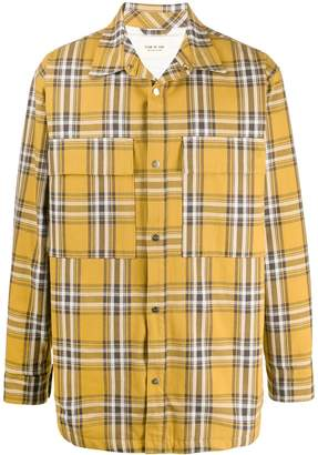 Fear Of God Plaid Flannel shirt jacket