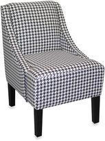Skyline Furniture Swoop Arm Chair in Berne Black