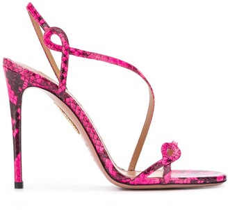 Aquazzura Serpentine snake-effect sandals