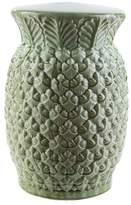 Surya Palm 18.5x12.6 Ceramic Stool
