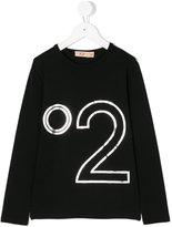 No21 Kids logo print top