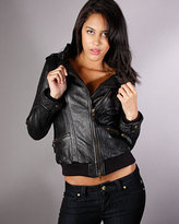 Monarchy Moto Leather Jacket in Black