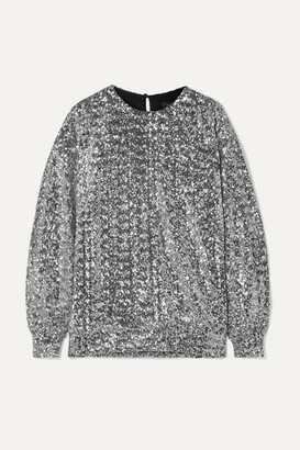 Isabel Marant Olivia Sequined Jersey Blouse - Silver