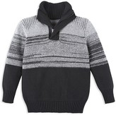 Andy & Evan Boys' Mélange Quarter Zip Sweater - Little Kid, Big Kid