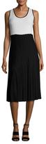 Derek Lam Crochet Jersey Flared Dress