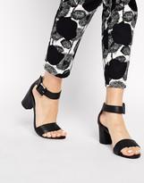 Black Kitten Heel Women's Sandals - ShopStyle