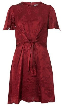 Dorothy Perkins Womens Dp Petite Red Port Knot Front Fit And Flare Dress, Red
