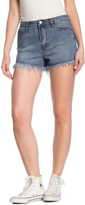 Articles of Society Meredith Frayed High Rise Jean Shorts