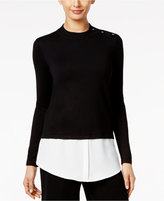 Alfani Petite Layered-Look Sweater, Only at Macy's