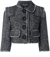Dolce & Gabbana tweed cropped jacket - women - Silk/Cotton/Polyamide/Virgin Wool - 40
