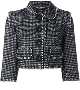 Dolce & Gabbana tweed cropped jacket - women - Virgin Wool/Silk/Alpaca/Spandex/Elastane - 40