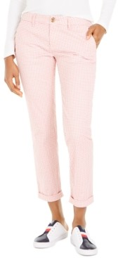 Tommy Hilfiger Gingham-Print Cuffed Pants