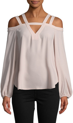 BCBGMAXAZRIA Tina Top Cold-Shoulder Top