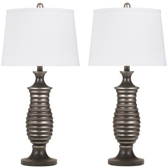 Signature Design by Ashley Rory Table Lamps - Contemporary - Set of 2 - Antique Silver Finish