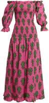 RHODE RESORT Eva off-shoulder floral-print smocked dress