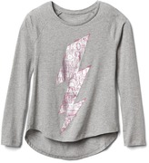Gap Graphic long sleeve hi-lo tee