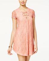 B. Darlin Juniors' Lace Shift Dress