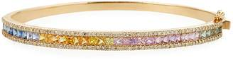 Siena Rainbow Sapphire and Diamond Bangle