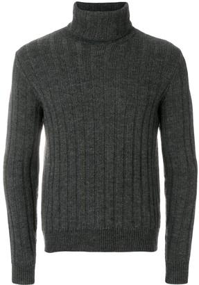 Ami Turtleneck Flat Ribbed Sweater