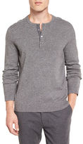 Vince Cashmere Long-Sleeve Henley Sweater