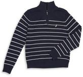 Nautica Boy's Stripe Cotton Sweater