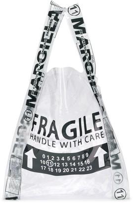 Maison Margiela Fragile shopper tote