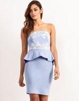 Lipsy Lace Peplum Bodycon Dress