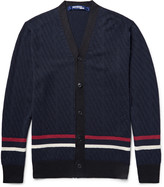 Junya Watanabe - Striped Wool And Silk-blend Cardigan