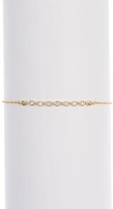 Nordstrom Rack Crystal Stone Bezel Sliding Knot Bracelet