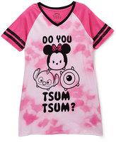 Briefly Stated Tsum Tsum Pink Juniors Raglan Nightgown