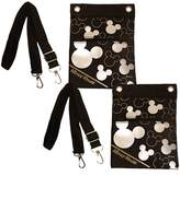 Disney Mickey Mouse Cross Body Shoulder Bag Set of 2 Black and Silver