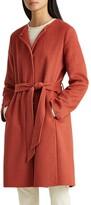 Lauren Ralph Lauren Belted Double Face Wool Blend Coat