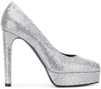 Casadei Metallic Platform Pumps