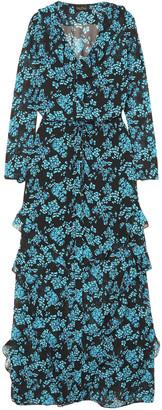 Saloni Izzie Ruffled Floral-print Silk-chiffon Maxi Dress