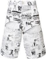 Comme des Garcons illustrated print shorts