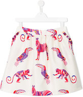 MSGM animal print skirt - kids - Cotton/Polyester - 14 yrs