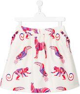 MSGM animal print skirt - kids - Polyester/Cotton - 14 yrs