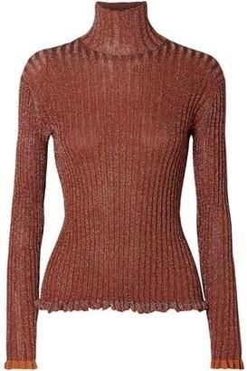 Chloé Metallic Ribbed Silk-blend Sweater