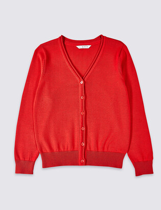 Marks and Spencer Girls' Pure Cotton Cardigan
