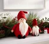 Pottery Barn Felt Santa Figurines