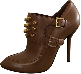 Gucci Brown Leather Ankle boots