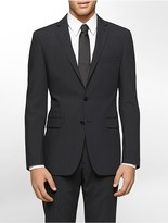 Calvin Klein Body Slim Fit Black Textured Stripe Suit Jacket
